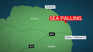 Lifeguards are believed to have pulled the pair out of Sea Palling in Norfolk.