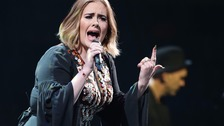 Adele accidentally locks lips with fan as she says hello