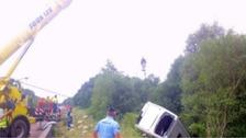 '15 injured' in bus crash in France