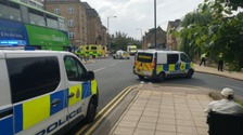 Man stabbed multiple times in busy West Yorkshire town centre