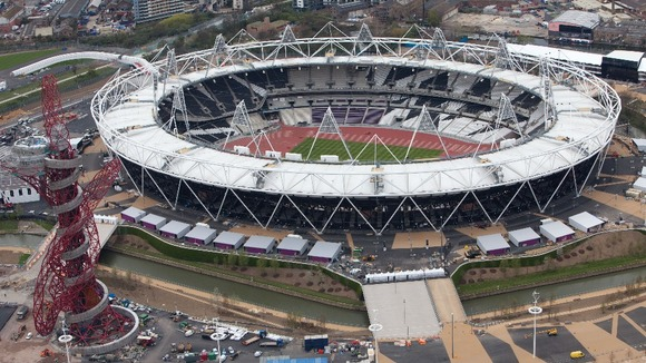 The Olympic Stadium.