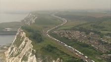 Queues out of Dover