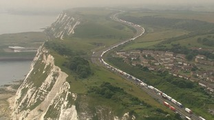 Hundreds forced to spend the night in cars amid long delays at Dover