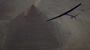 Solar-powered plane begins final leg of first ever fuel-free round-the-world flight