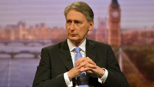 BBC handout photo of Defence Secretary Philip Hammond appearing on BBC1's The Andrew Marr Show