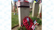 Football fans honour fallen North East Somme soldiers