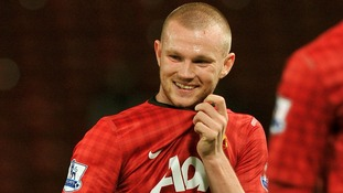 Manchester United's Ryan Tunnicliffe last month