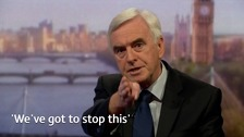 John McDonnell makes unity call amid office entry row