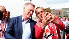 David Moyes with a Sunderland fan