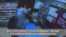 Shopkeeper left 'incredibly anxious' after masked gunman burst into her store