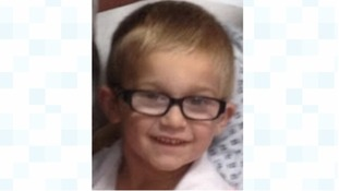 The five-year-old has been named locally as Charlie Dunn