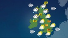 Weather: Dry and bright for most with showers for some