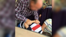 Pensioner allegedly puts boy in 'arm lock' on train