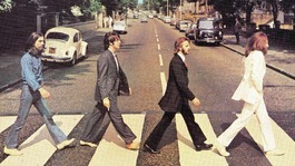 The cover of The Beatles' Abbey Road album.