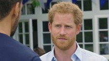 Prince Harry: I couldn't speak about my mum's death