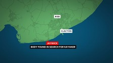 Body found in search for missing kayaker on Essex coast