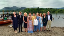 The cast and director at the Swallows and Amazons premiere at the Theatre by the Lake in Keswick