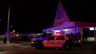 The shooting happened in the parking lot of the Club Blu nightclub.