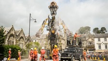 Colossal mining puppet 'the Man Engine' begins walking