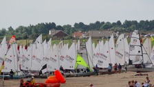 298 young sailors are competing in the national youth regatta at Gorleston-on-sea
