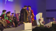 Radio star Stephanie Hirst receives an honorary doctorate