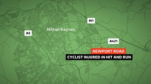 A pensioner has been seriously injured in a hit and run in Milton Keynes.