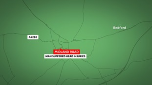 Police are appealing for information about an incident in which a man was injured in Bedford.