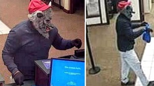 Bank robbed by man wearing wolf mask armed with a gun