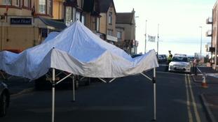 Tent outside flat