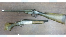 These two loaded shotguns were seized by West Midlands Police.