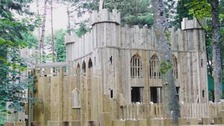 Largest wooden playground in UK opens at Lowther Castle
