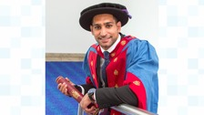 Boxer receives honorary doctorate for charity work