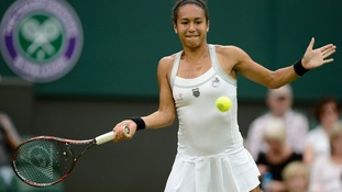 Heather Watson's run at Wimbledon came to an end as she suffered a 6-0 6-2 defeat by Agnieszka Radwanska in the third round.