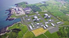 An artist's impression of the new Wylfa Newydd nuclear plant on Anglesey.