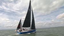 Boats take part in the first official race of Ramsgate week