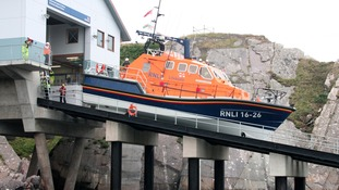 Lifeboat on slipway