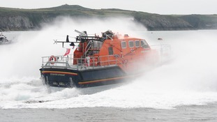 Lifeboat at sea