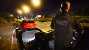 Fireworks thrown at police in street racing crackdown