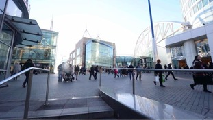 The Bullring shopping centre is carrying out a review of its safety measures after a man plunged 100ft from the top floor.