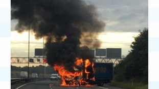 Commuter chaos as lorry fire shuts M6 in both directions