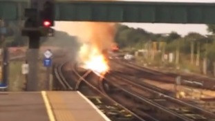 Track fire at Gatwick delays Southern, Gatwick Express and Thameslink