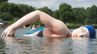 Swimming with giants: Adlington statue unveiled in London