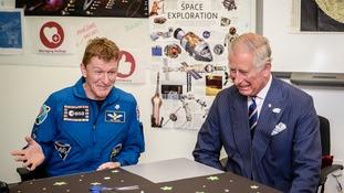 Peake and Prince Charles