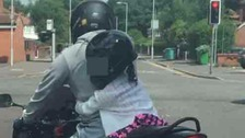 Safety concerns after child spotted riding pillion at 40mph