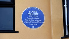 Bobby Moore is awarded a blue plaque on Barking home