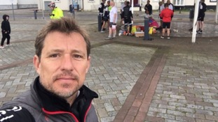 Ben Shephard completes latest stage of 210-mile charity challenge
