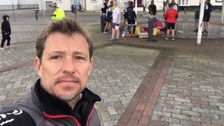 Ben Shephard on day one of his 210-mile charity challenge