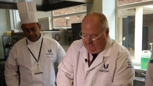 Eric Pickles MP making a curry.