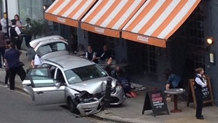 Undercover police car crashes into diners in Kentish Town