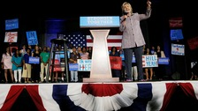 Clinton secures historic Democratic nomination for US president